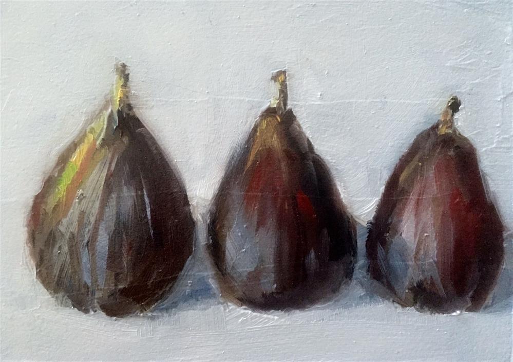 """Three Figs"" original fine art by Gary Bruton"