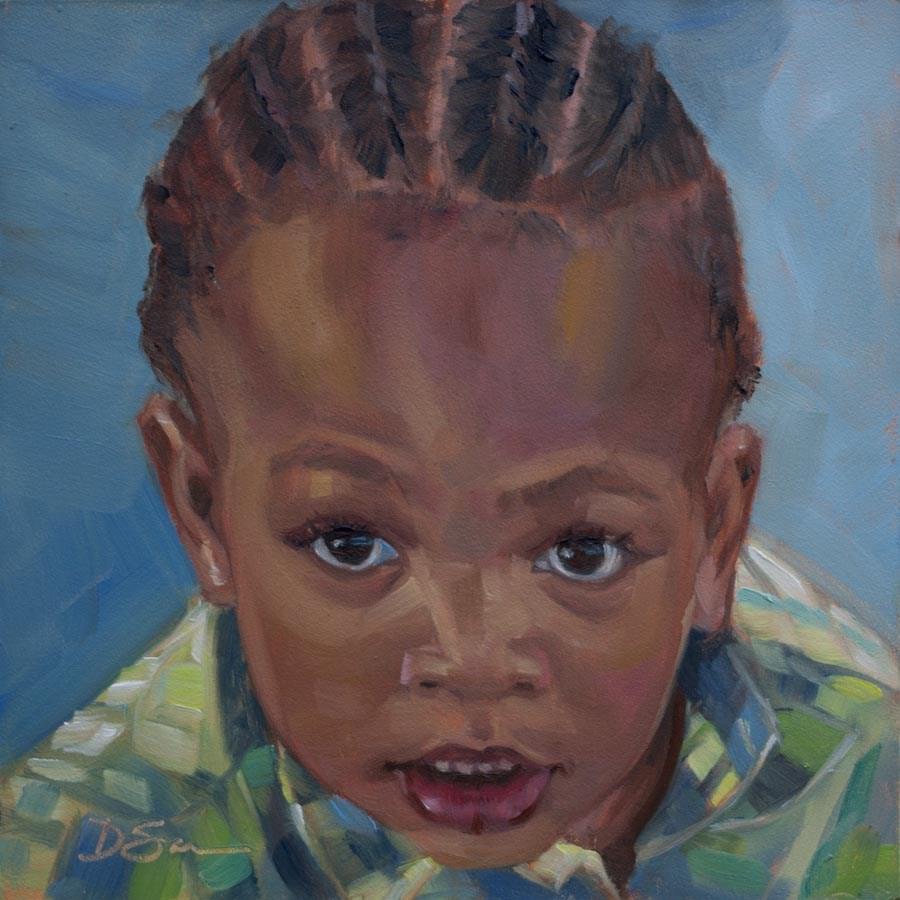 """Eyes of Love No.15 King"" original fine art by Deborah Savo"