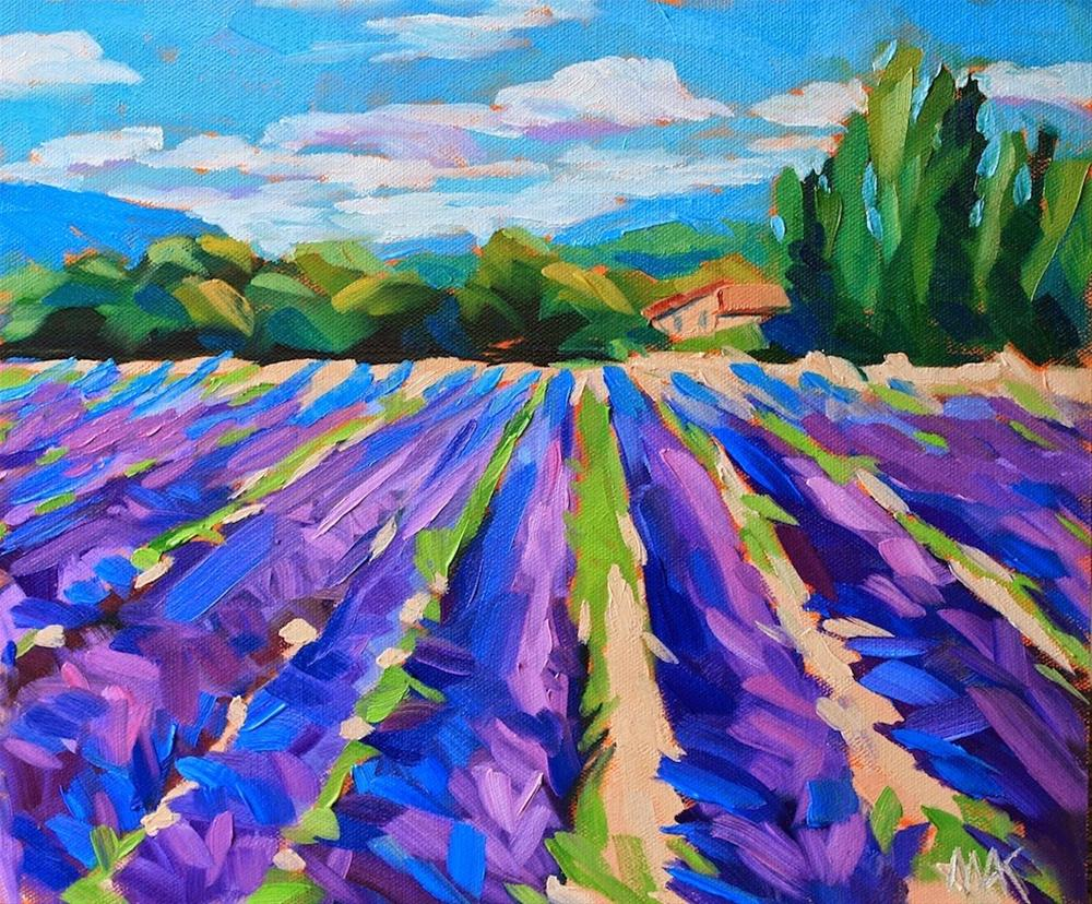 """Lavender Blue"" original fine art by Mary Anne Cary"