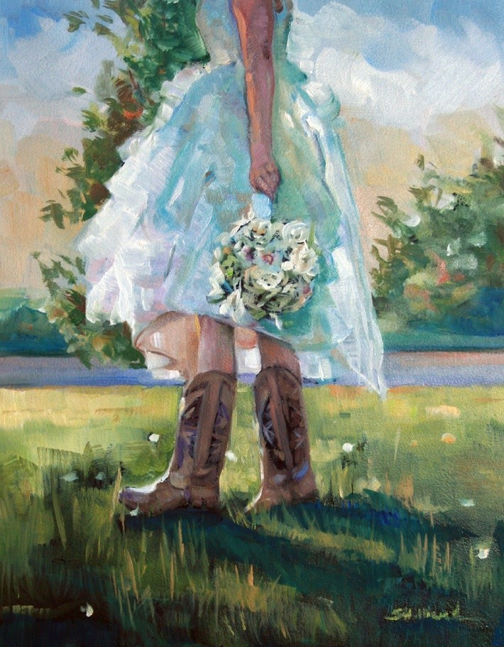 """""""All About the Boots"""" original fine art by Sherrie Hilliard"""