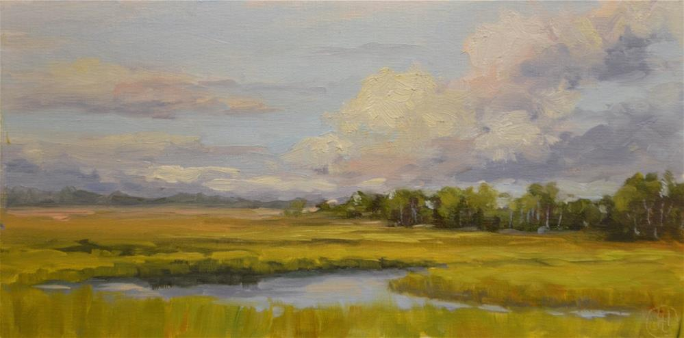 """marsh in late summer"" original fine art by Dottie  T  Leatherwood"