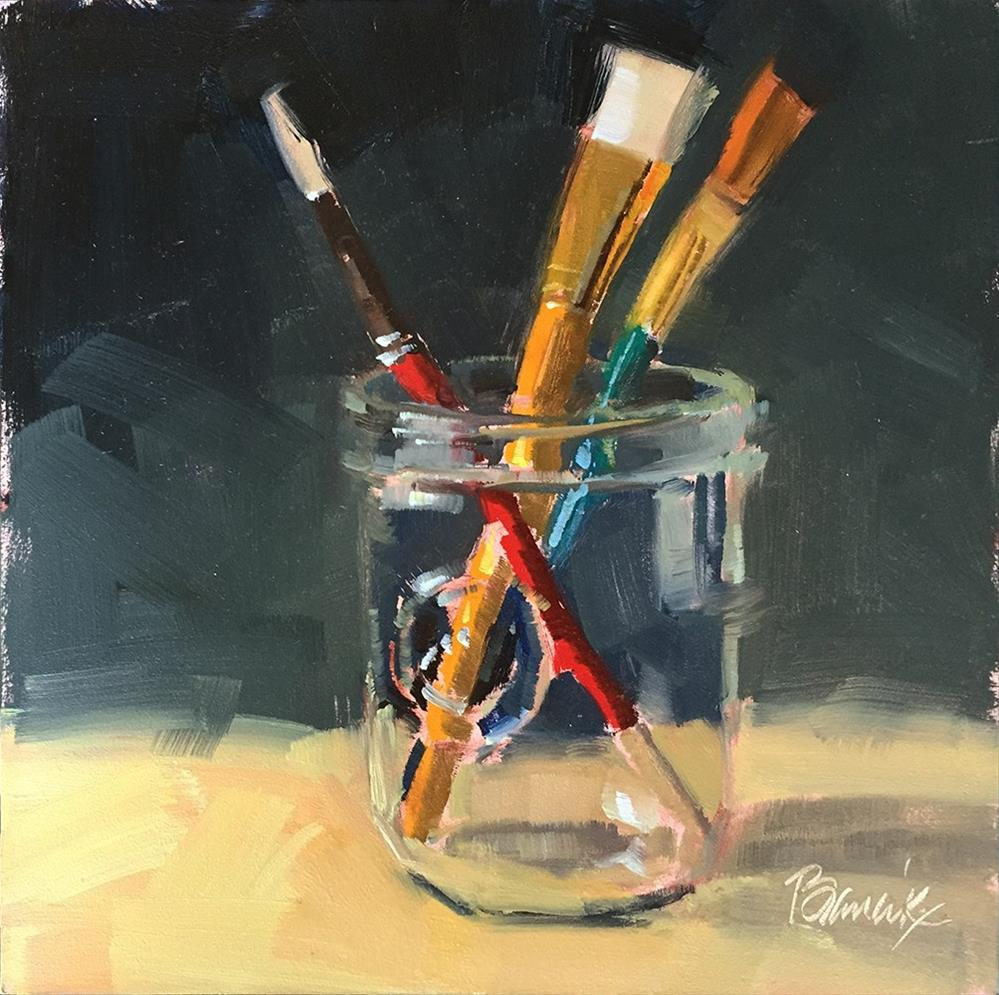 """""""Primary Brushes"""" original fine art by Candace Brancik"""