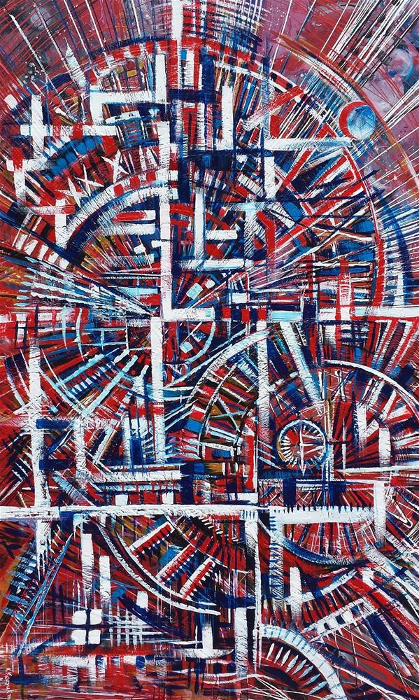 """Cosmic Engineering"" original fine art by Khrystyna Kozyuk"