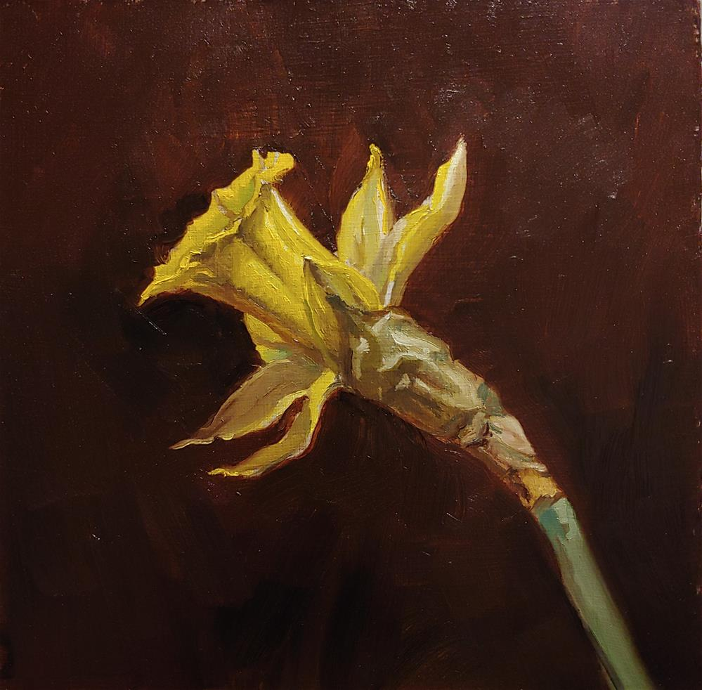 """A Narcissus from today"" original fine art by Ed Watson"