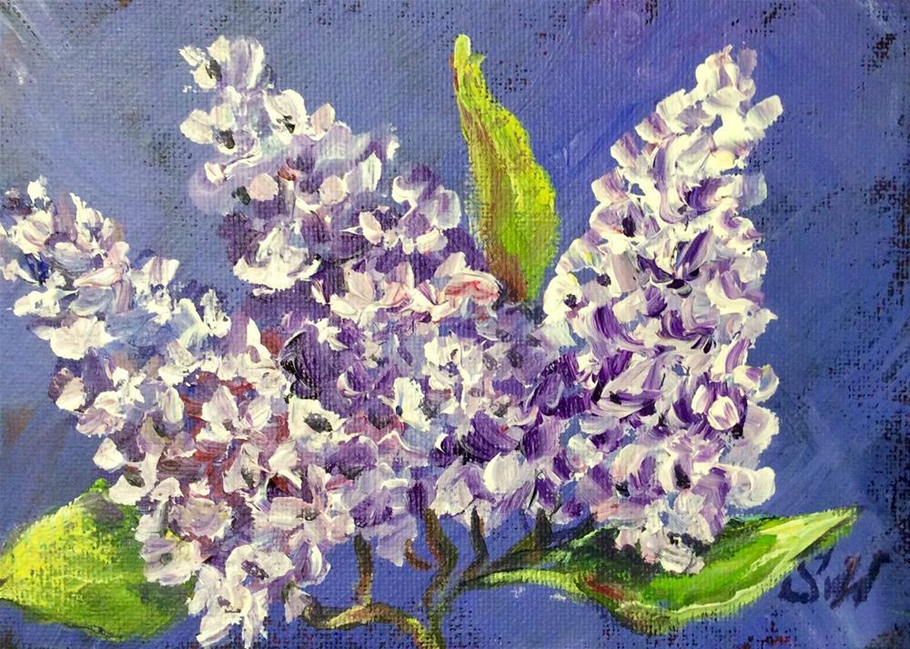 """""""Lilacs and purple"""" original fine art by Sonia von Walter"""