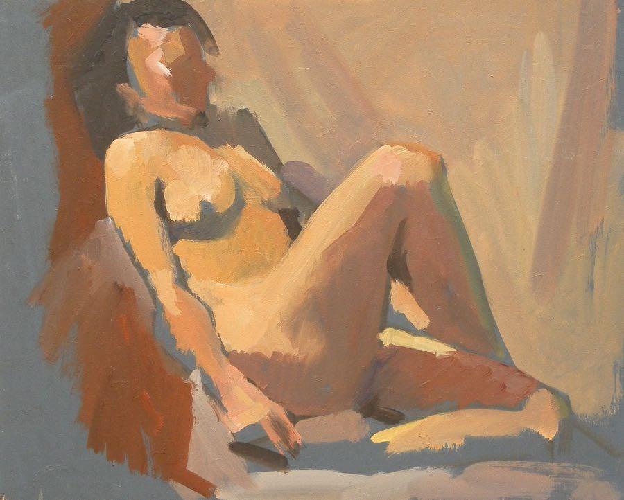 """Sitting"" original fine art by Peter Orrock"