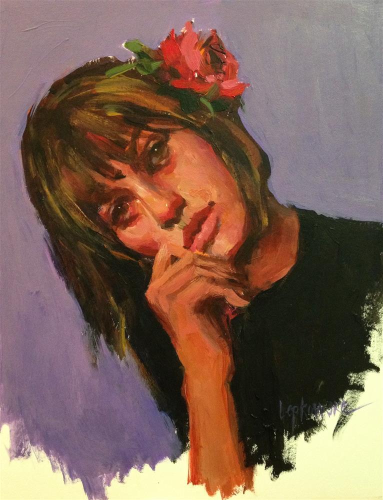 """""""Crazy about Him"""" original fine art by Laurie Johnson Lepkowska"""