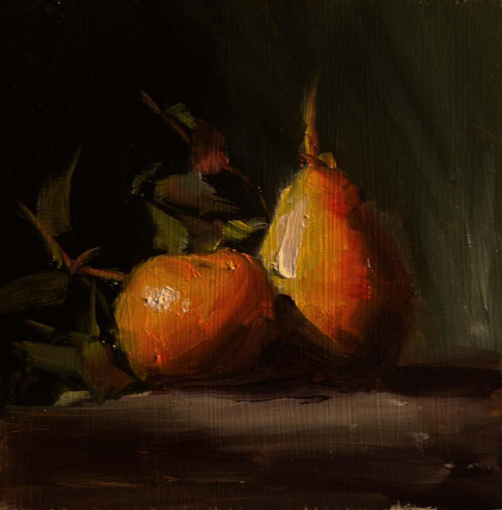"""""""Pear and Clementine"""" original fine art by Neil Carroll"""