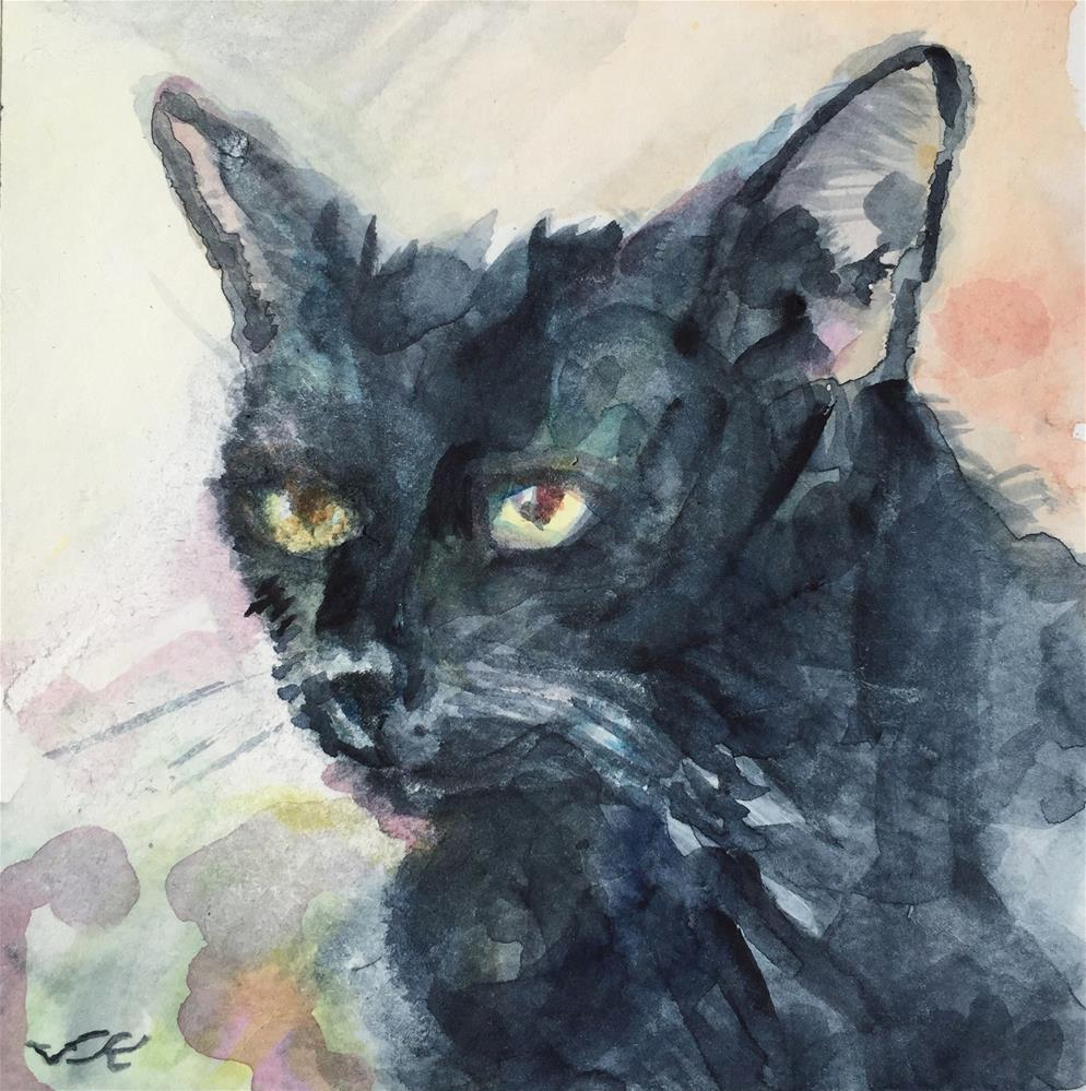 """""""Inky Bodine"""" original fine art by Jean Krueger"""