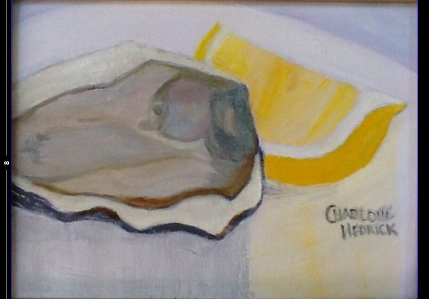 """OYSTER with LEMON"" original fine art by Charlotte Bankhead Hedrick"