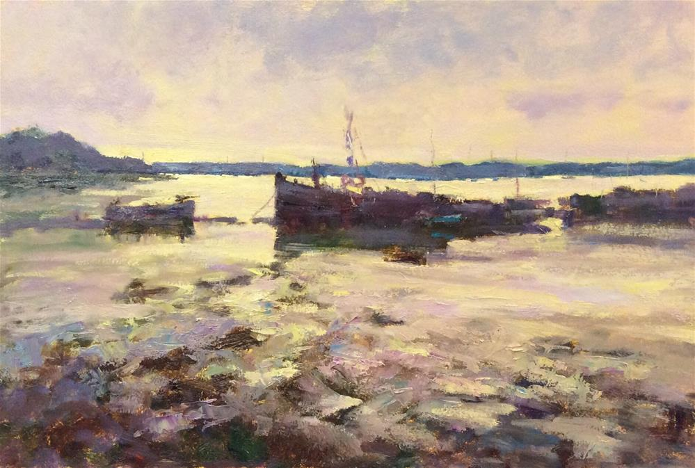 """""""Early Morning Pin Mill"""" original fine art by John Shave"""
