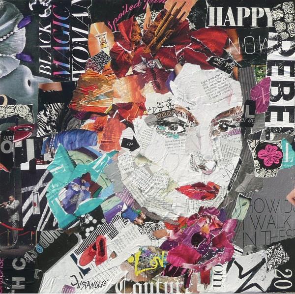 """Happy Rebel 11006 SOLD"" original fine art by Nancy Standlee"