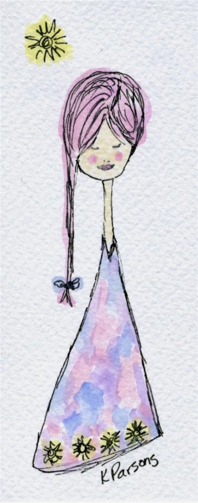 """One Braid"" original fine art by Kali Parsons"