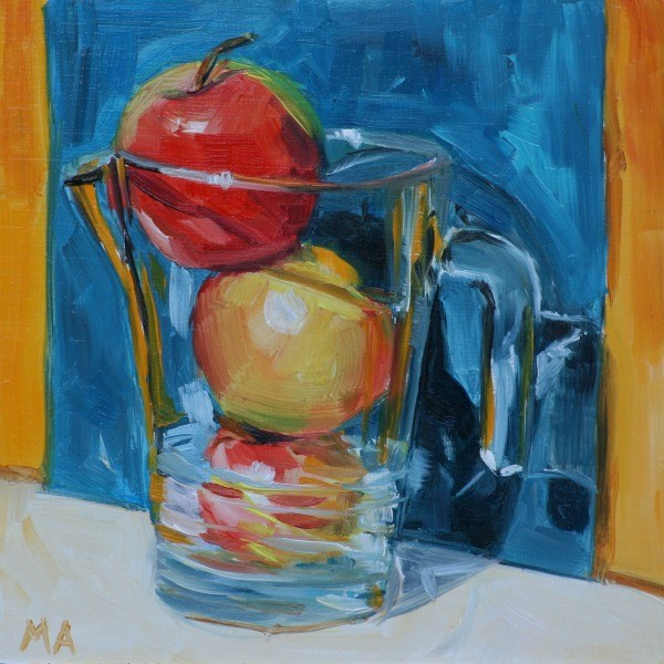 """Applejuice"" original fine art by Aniko Makay"