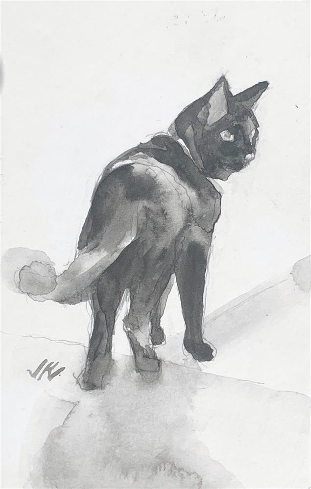 """Daily Cat 125"" original fine art by Jean Krueger"
