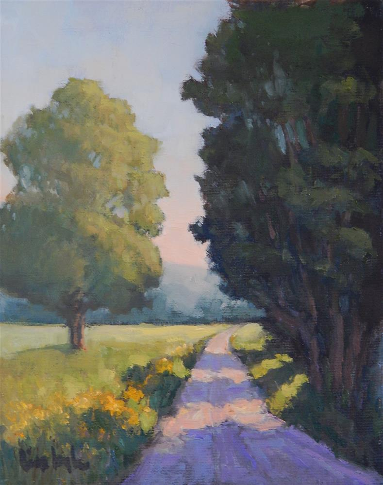 """""""Down a Country Road"""" original fine art by Lisa Kyle"""