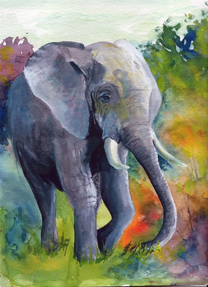 """""""Elephant"""" original fine art by Bunny Griffeth"""