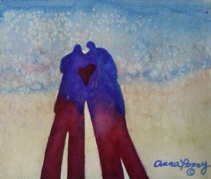 """Together"" original fine art by Anna Penny"