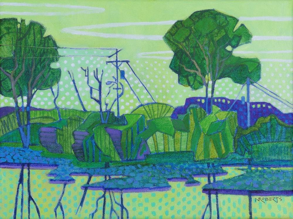 """Delta Hyacinths"" original fine art by Nancy Roberts"