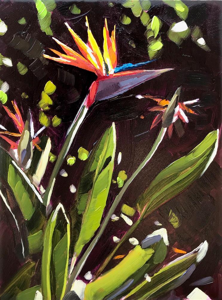 """Bird of Paradise"" original fine art by Sharon Schock"