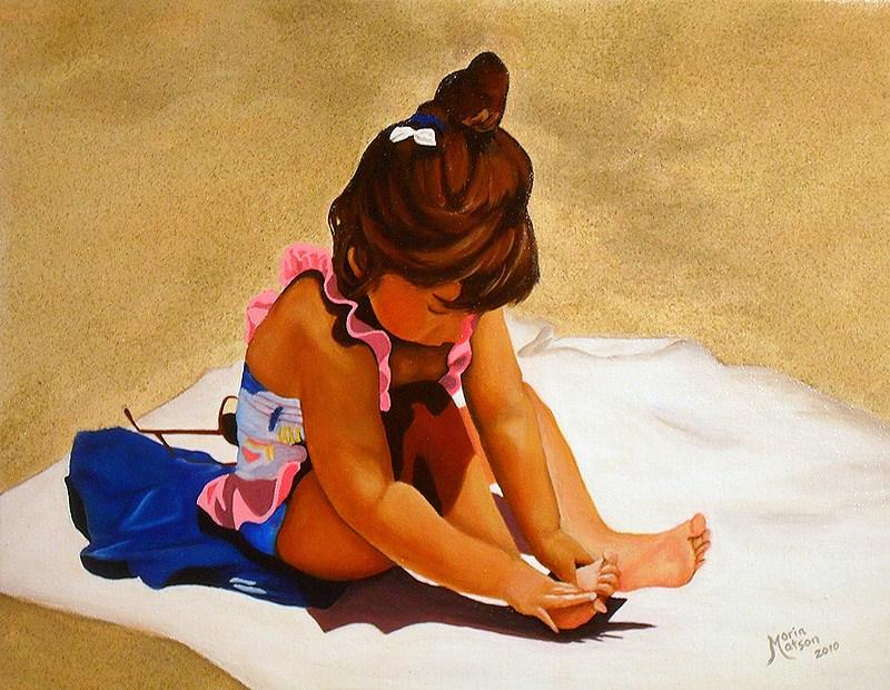 """""""Dominique"""" original fine art by Monique Morin Matson"""