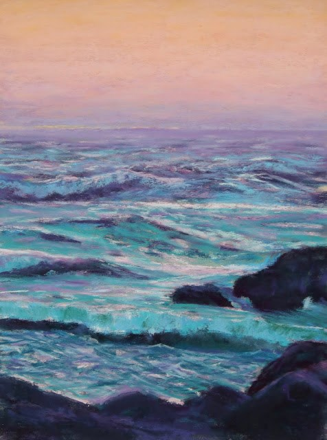 """""""The Lonely Sea"""" original fine art by Sharon Lewis"""