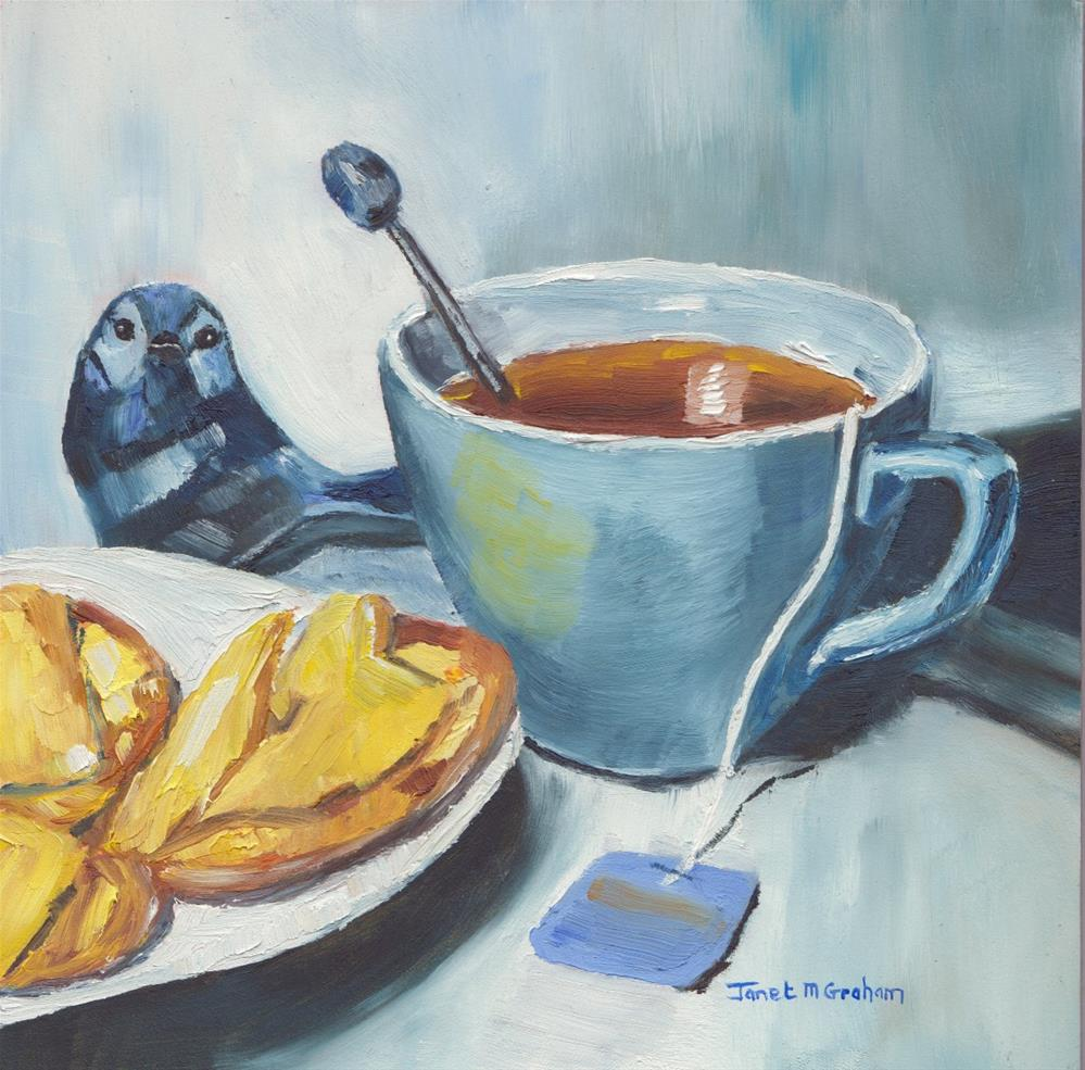 """Tea and Crackers"" original fine art by Janet Graham"