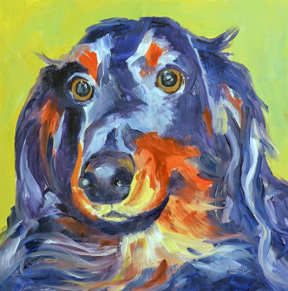 """GEORGE 12/100 OF 100 PET PORTRAIT IN 100 DAYS © SAUNDRA LANE GALLOWAY"" original fine art by Saundra Lane Galloway"