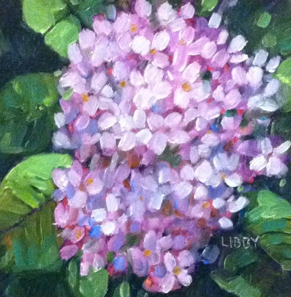 """Close up Hydrangea"" original fine art by Libby Anderson"
