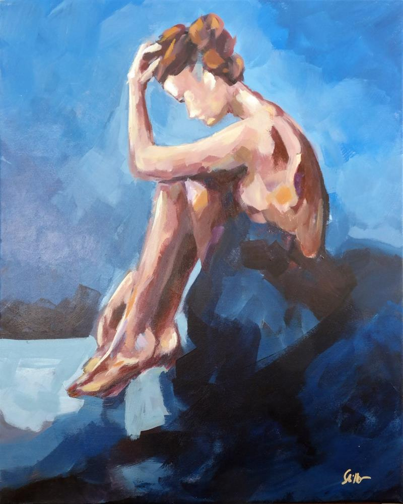"""The Thinker"" original fine art by Dietmar Stiller"