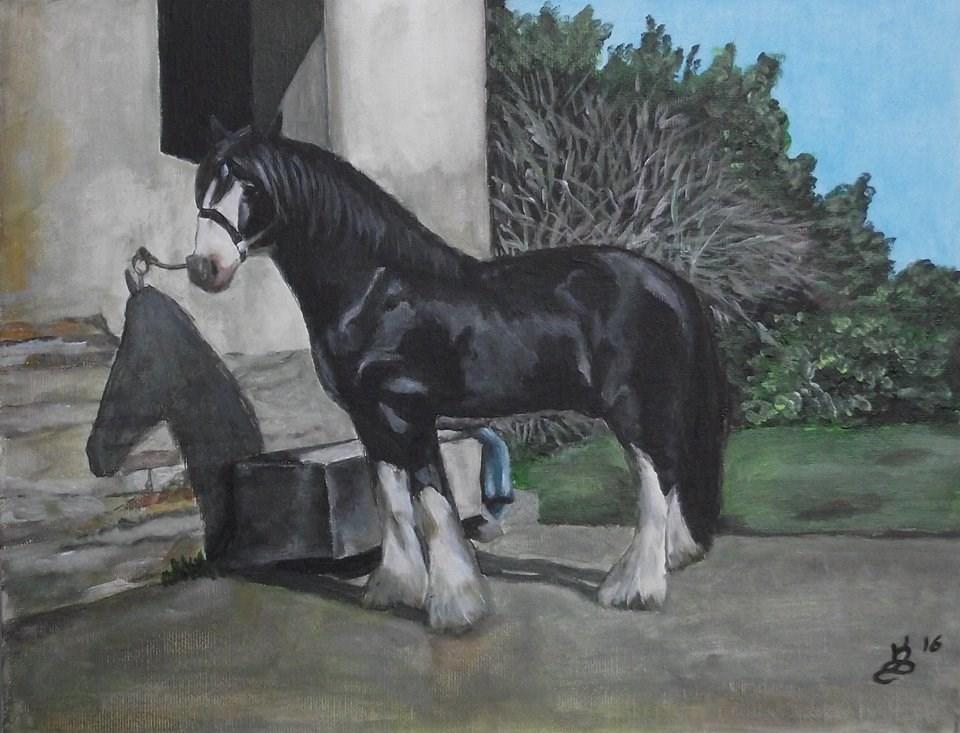 """""""Taking a break"""" original fine art by Kim Selig"""