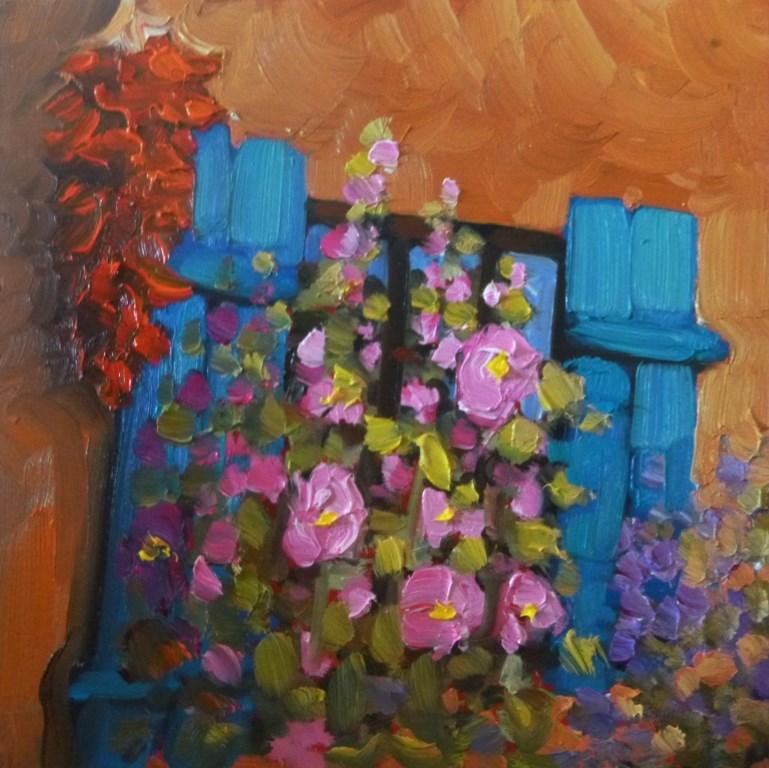 """51 CORRALES RISTRA"" original fine art by Dee Sanchez"