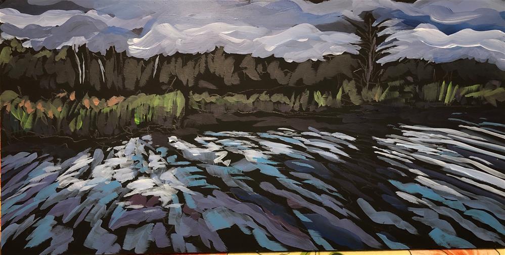 """Kayaking in the Slough"" original fine art by Kat Corrigan"