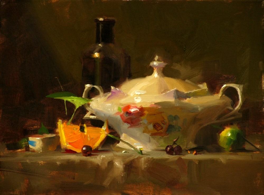 """ Demo: Delicate Porcelain"" original fine art by Qiang Huang"