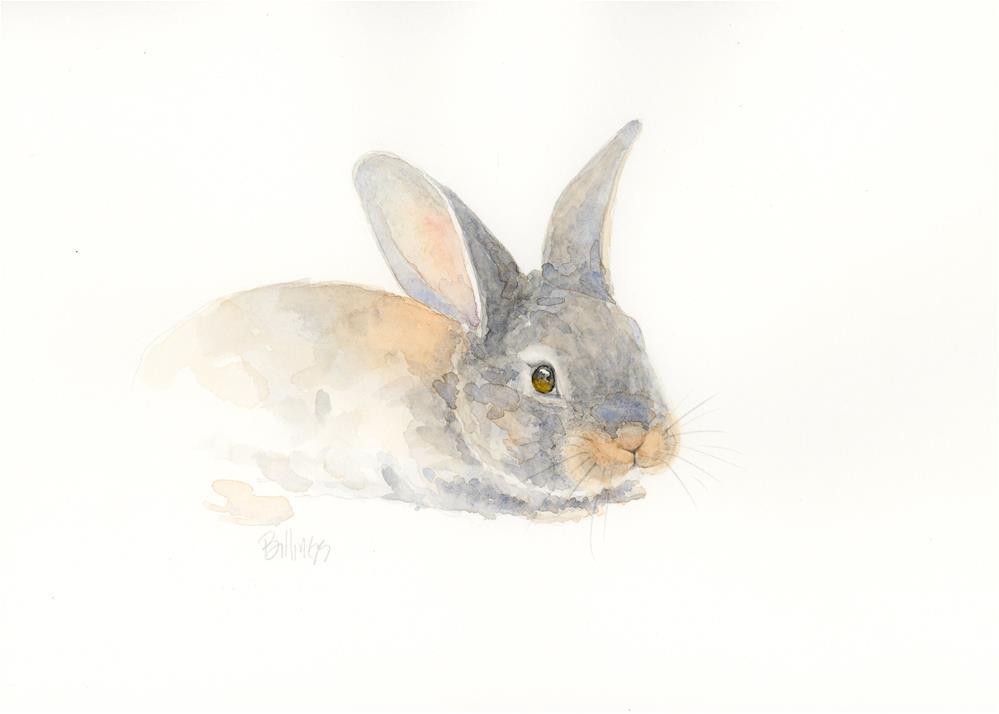 """""""Resting Rabbit III"""" original fine art by Susanne Billings"""