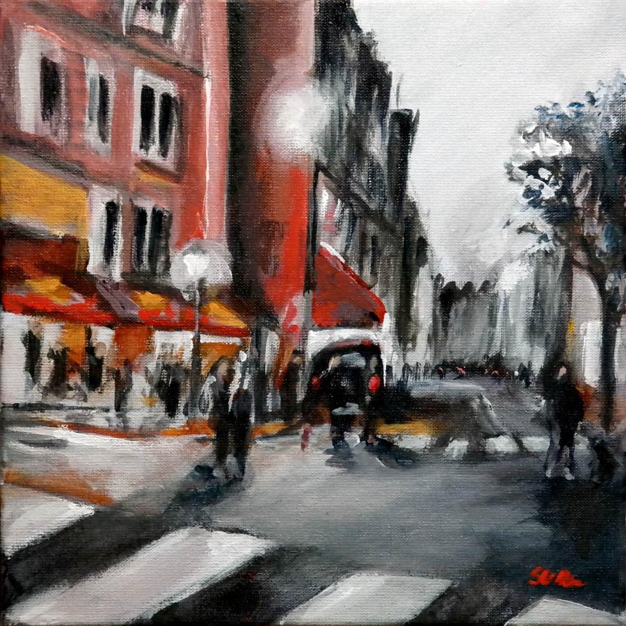 """""""1551 Speechless in Paris"""" original fine art by Dietmar Stiller"""