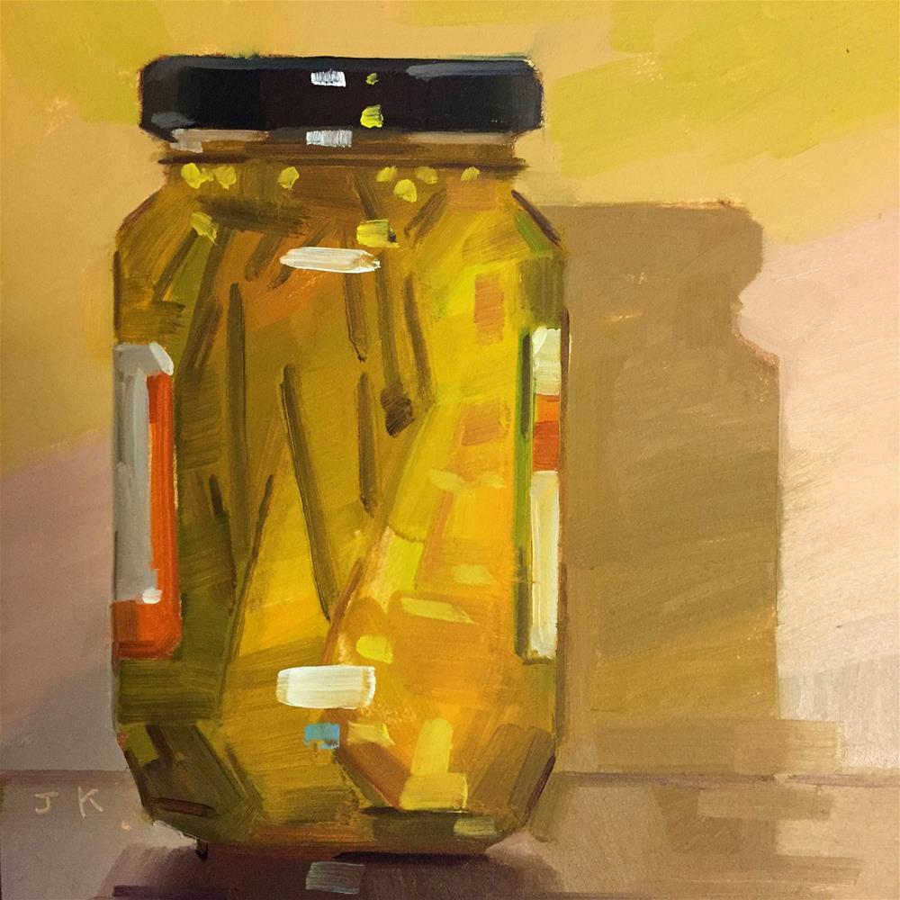 """Pickle Jar"" original fine art by Jiyoung Kim"