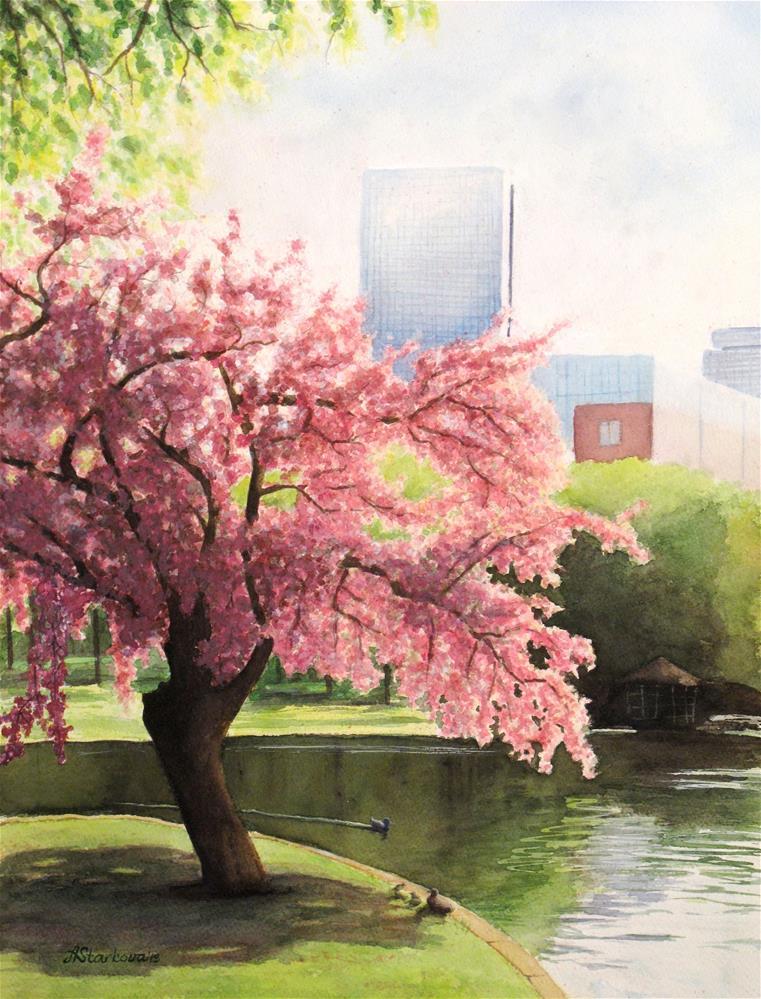 """Blooming spring"" original fine art by Anna Starkova"