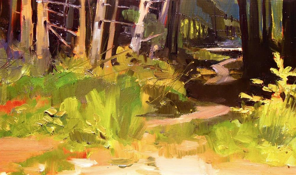 """""""Path to the River Dosewallips State Park, plein air , oil painting by Robin Weiss"""" original fine art by Robin Weiss"""