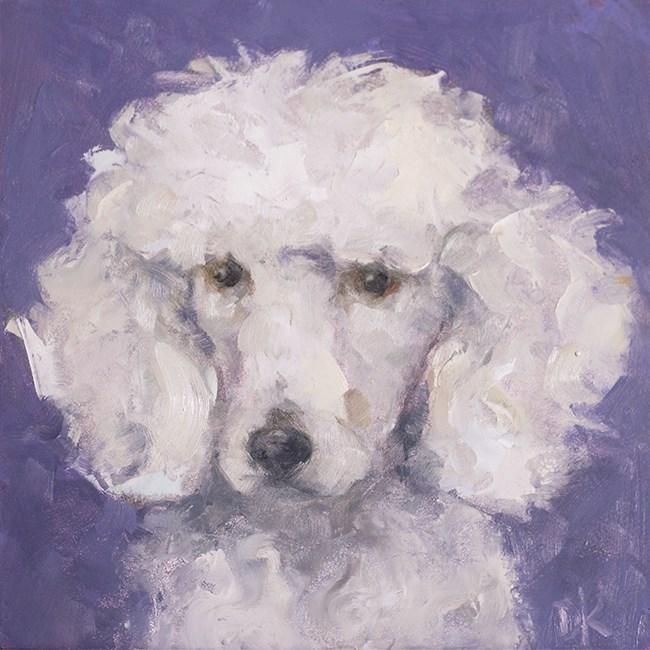 """Dog Days of Summer - LuLu - Poodle portrait by Deb Kirkeeide"" original fine art by Deb Kirkeeide"
