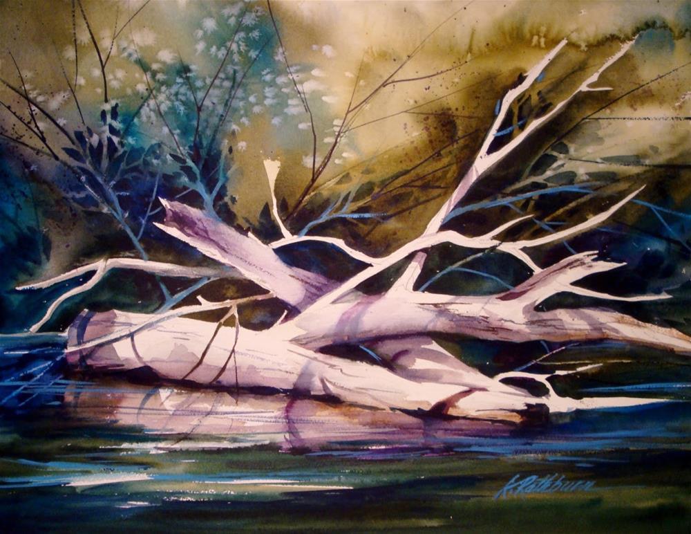 """""""Logged"""" original fine art by Kathy Los-Rathburn"""