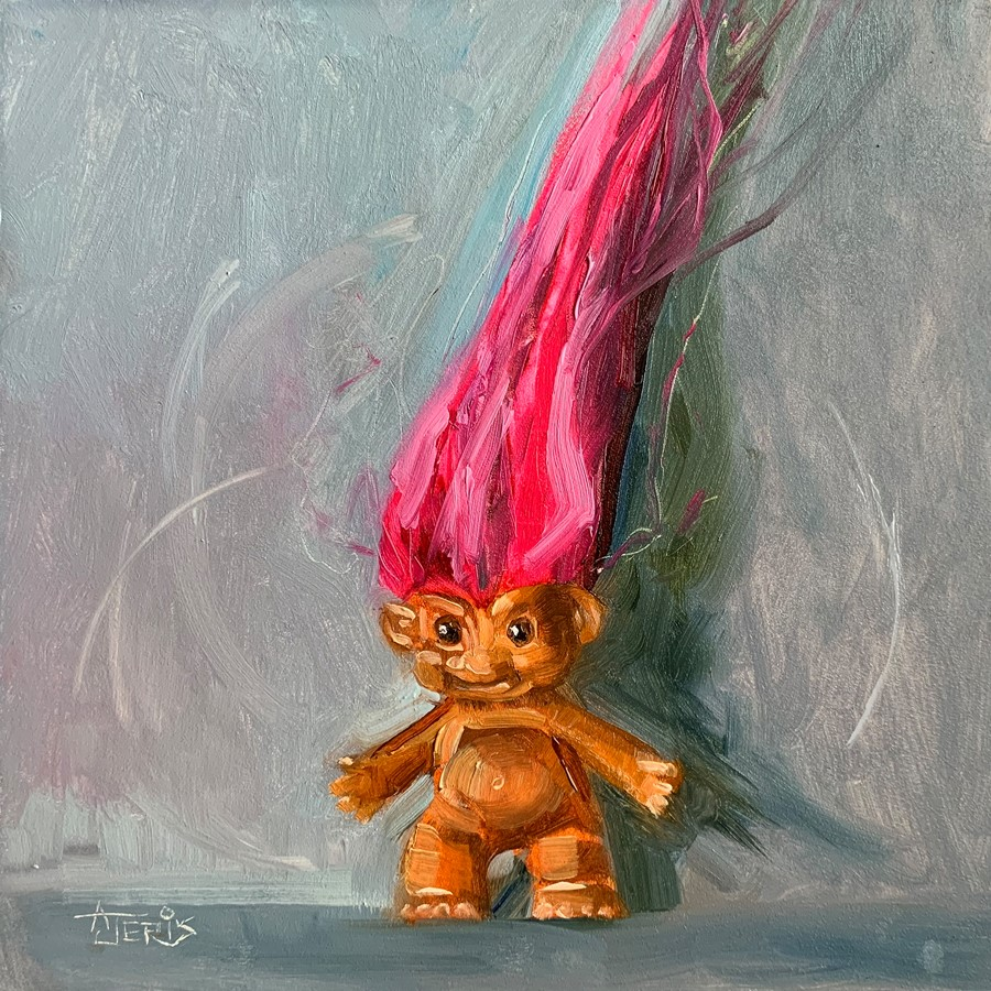 """Pink Troll"" original fine art by Andrea Jeris"