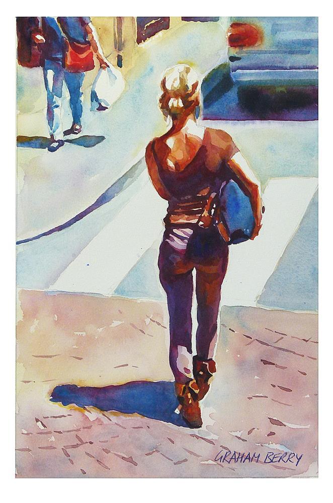"""""""Bag Lady."""" original fine art by Graham Berry"""