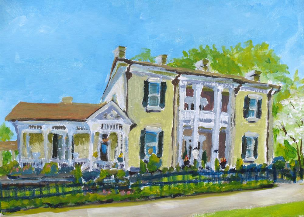"""Mayes-Frierson-Fuston Home"" original fine art by Susan Elizabeth Jones"