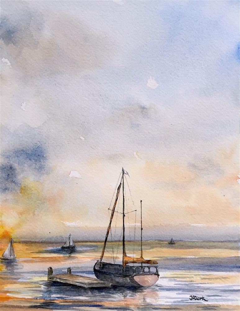"""Evening"" original fine art by Judith Freeman Clark"