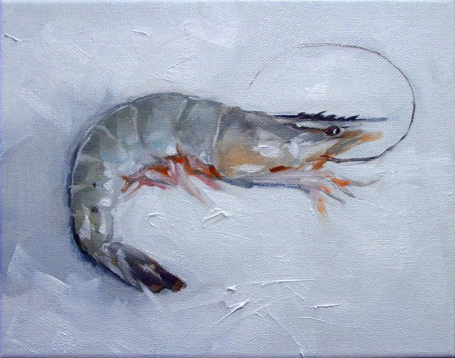 """Jumbo Shrimp"" original fine art by Clair Hartmann"