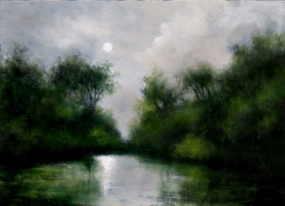 """Quiet Lake"" original fine art by Bob Kimball"