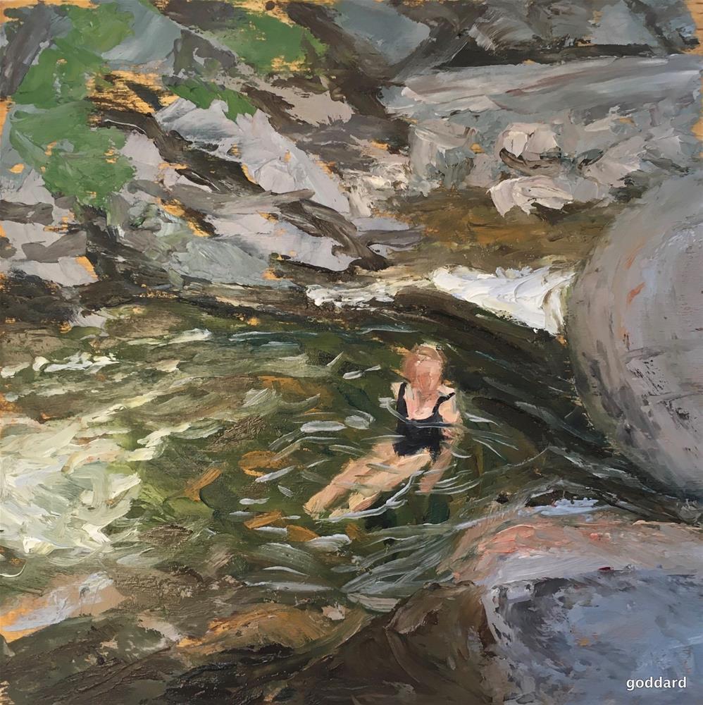 """Green Pool"" original fine art by Shari Goddard Shambaugh"