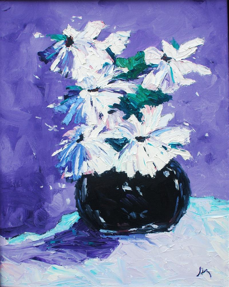 """Maddie's Flowers"" original fine art by Liz Zornes"