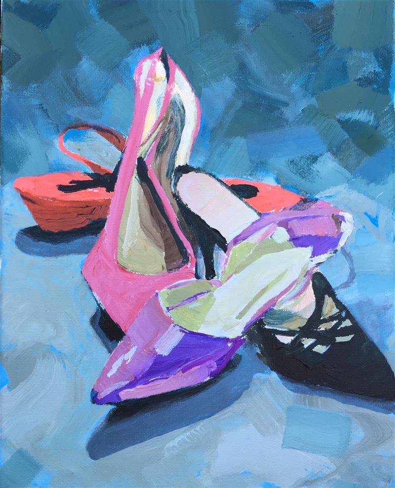 """Four Shoes"" original fine art by Chi Chi Taylor"